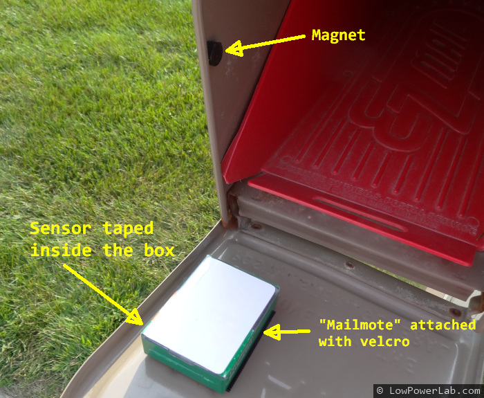 Battery Powered Mailbox Notifier Sensor To Detect Door