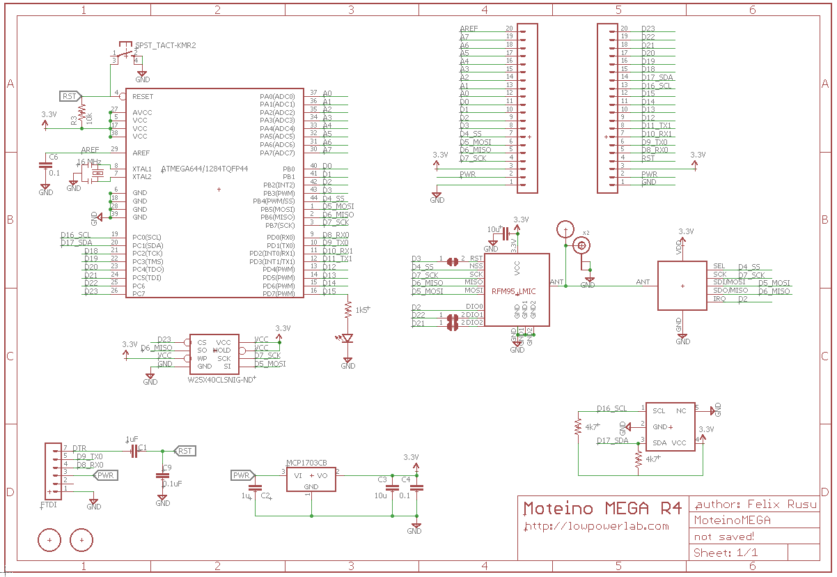 Design Files All About Moteino Lowpowerlab The Schematics You Can Also Find Eagle Format Board Layout And Dxf In Github Repository For Moteinousb Is Available Pdf