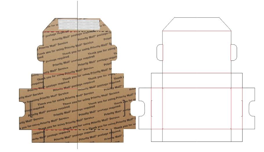 Lasercut shipping boxes from scrap | LowPowerLab